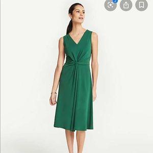 NWT Matte Jersey Knot Front Midi Dress